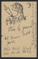 Postcard to Franz Marc